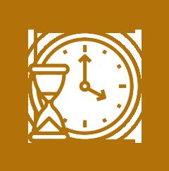 Skopek Orthodontics time and hourglass icon