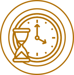Skopek Orthodontics time and hourglass icon