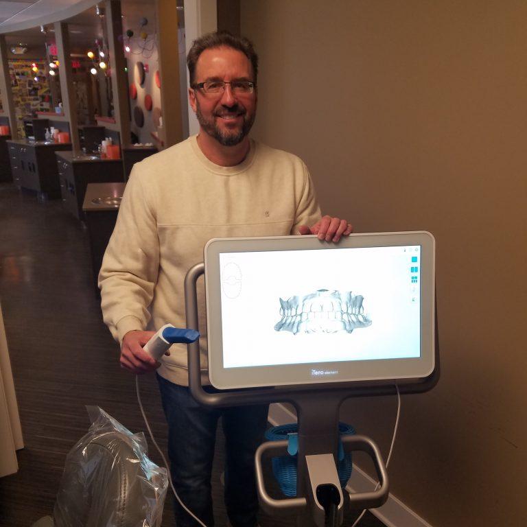 Dr. Skopek of Skopek Orthodontics Itero scanner services