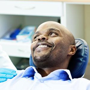 Patient having a regular check-up from Skopek Orthodontics