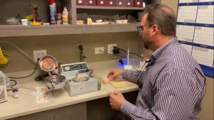 Dr. SKopek of Skopek Orthodontics making clear aligners for his patients